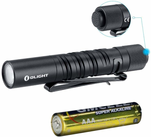 Picture of Olight i3T EOS Penlight Torch 180 Lumens 60 Meters Throw Mini AAA EDC Flashlight Eeveryday Pocket Carry Outdoor Gear for Dog Walking -Hiking -Camping -Joging - Maitenance