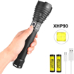 Picture of Powerful Torch Rechargeable XHP90 LED Super Bright Torch Light - LUXNOVAQ Zoomable 10000 High Lumen Tactical Flashlight USB Waterproof Large Torches with 2 Batteries & 3 Modes for Camping Outdoor