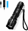 Picture of LED Torch -BINKE Super Bright 2000 Lumen Tactical Flashlights 5 Modes Adjustable Focus XML T6 Torches with USB Charger &2 Batteries for Outdoor Sports -Cycling - Running -Dog Walking and Camping