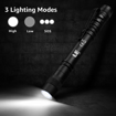 Picture of LE Pocket Pen Torch Light Flashlight C120 - Small - Mini - Stylus Pen Light with Clip - AAA Battery Powered [Not Included] - Perfect Torch for Inspection - Work - Repair and More - Pack of 2