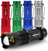 Picture of 5 Pack Mini Flashlight Cree Q5 Led Torch 300 Lumens 3 Modes (Light - Low Light - Strobe)adjustable Focus Zoomable Light