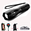 Picture of Constefire LED Torch - Super Bright 2000 Lumen Rechargeable Torch - CREE T6 Tactical Flashlight with 5 Modes - Zoomable Waterproof bicycle light & 18650 Battery -3.6-3.7V 3000mAh and Battery Charger