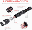 Picture of INFRAY Super Bright 800 lumens LED Torch (2Pack) - Pocket-Size Zoomable Flashlight with CREE LED - IP65 Water-Resistant - 3 Light Modes and Belt Clip -Ideal for Multipurpose Use
