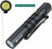 Picture of Olight I3T EOS EDC Flashlight LUXEON TX CW LED 180 Lumens/60 Meters Portable Pocket Torches Slim Mini Small Torch Light for Outdoor Home - with AAA Battery+ BanTac Battery Case (Black)