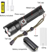 Picture of BESTSUN LED Torch Rechargeable - XHP70.2 Tactical Torches LED Super Bright 6000 Lumens Powerful Flashlight Zoomable Hand Torch for Camping Fishing Hunting(Battery Included)
