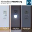 Picture of ANSMANN Motion Detector Night Light [Pack of 1] Battery Operated Indoor LED Nightlight Ideal for Nursery - Kids Bedroom - Hallway - Bathroom - Landing and Stairs - 2 Years Warranty - Batteries Included