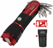 Picture of DIY TECH UK - IncrediBeam Multitool 15 in 1 Pocket Torch + Free 48 in 1 Wallet Tool - Latest Super-Bright LED - 300m Long Range - Anti-Slip - Extra Strong High Carbon Stainless Steel - Burgundy Red