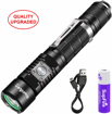 Picture of Supfire Tactical Flashlight Super Bright 1100 Lumens Cree LED Water-Proof Torch with 18650 Battery Included -Rechargeable with USB Cable Directly -5 Light Modes for Camping Hiking Cycling etc -Model A3