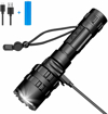 Picture of Linkax Rechargeable LED Torch LED Flashlight Powerful Super Bright 800 Lumens Pocket Torches 5 Modes Waterproof Handheld Flashlight for Camping Outdoor Sports with 18650 Battery