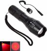 Picture of CentBest LED Flashlight Red Beam Cree Zoom Adjustable Focus Torch for Hunting Tactical Hiking ( LED Searchlight + Remote Pressure Switch )
