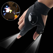 Picture of GuDoQi Pair of Multipurpose LED Flashlight Outdoor Gloves for Repairing and Working in Darkness Places - Fishing - Camping and Hiking
