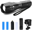 Picture of BINWO Super Bright 2000 Lumen Rechargeable Handheld Mini CREE LED Torch Light - Adjustable Focus - 5 Modes - Led Flashlight for Hiking Biking Camping and other Outdoor Sports - with Batteries & Charger