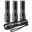Picture of BYBLIGHT Led Torch - Super Bright 800 lumens XML-T6 Zoomable Adjustable Focus Cree Tactacal Flashlight with 5 Modes - Waterproof Handheld small torch for Camping - Dog Walking - Outdoor Activitie (4 Pack)