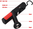 Picture of LED Work Light With Magnetic Base Rechargeable Handheld Flashlight LED Torches Lamp COB Cordless Inspection Lamp 2200mAh Battery Powered For Outdoor Camping Garage Workshop with Hanging Hook (Red)