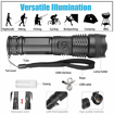 Picture of JaxTec Flashlight 5 Modes P50 LED Torch with USB Charger Super Bright 3200 Lumens Powerful Tactical Handheld Torch for Camping - Hiking (18650 Rechargeable Battery Included)