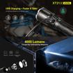 Picture of Professional Police Flashlight 4000 Lumens XT21X Klarus Advanced Tactical Flashlight LED Rechargeable Police LED Flashlight USB Rechargeable 21700 IMR Battery (4000 Lumens - 1040FT)