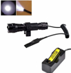 Picture of BESTSUN Tactical Flashlight Waterproof Cree Xm-L2 LED 1200 High Lumens 1 Mode 3-18V Lamp Hunting Torch with Pressure Switch and Rail Rifle Mount for Picatinny AR (18650 Battery and Charger included)