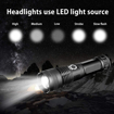 Picture of ShineTool XHP50 LED Torch 2 Pack High Lumens USB Rechargeable Flashlight - Zoomable Waterproof Flashlight Outdoor Emergency Lights with Power Indicator + Rechargeable Battery