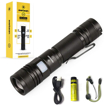 Picture of Everbeam E2 LED Tactical Flashlight 950 Lumen Bright Torch - USB Rechargeable - Zoomable - Adjustable Lanyard - Waterproof - 3400mAh 18650 Battery - Work Hiking Emergency Outdoor Hunting EDC Handheld