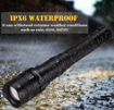 Picture of LED Torch 4000 Lumens XHP50 USB Rechargeable Flashlight - 5 Modes Zoomable Tactical Handlight Outdoor Waterproof Emergency Lights for Camping Hiking Home Use - Charger and Batteries Included