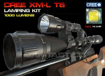Picture of Forrader Cree XM-L Scope Mount Lamping Lamp Kit Hunting Gun Air Rifle Light - Flashlight Torch + Charger + Presssure switch + Gun Mount Kit Set - White Light One Mode