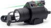 Picture of Trirock LED Flashlight Torch Light Combo with Pressure Switch & 20mm Picatinny Rail (Green)