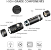 Picture of Justech Rechargeable LED Torch Super Bright 900 Lumen Flashlight Handheld Mini LED Torch Waterproof with 4 Lighting Modes for Camping Hiking Emergency Biking and Outdoor Activities