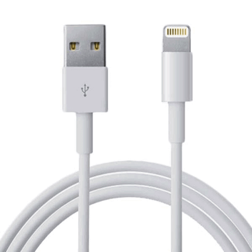 Picture of USB Lightning Charger & Data Sync Cable For Apple iPhone X 7 6 5 iPad 4 Air 1M