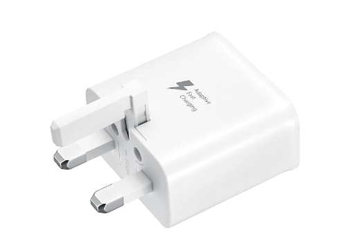 Picture of Samsung Genuine Adaptive Fast Wall Charger UK Plug Adapter (Universal) - White