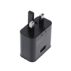 Picture of Genuine Samsung Fast USB Mains Charger/Travel Adapter For Samsung Galaxy S10 | S10+ (Black)