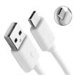 Picture of Samsung Galaxy Tab A 10.1 2019 New 1M USB Type C Charger Cable Data Sync Lead - White