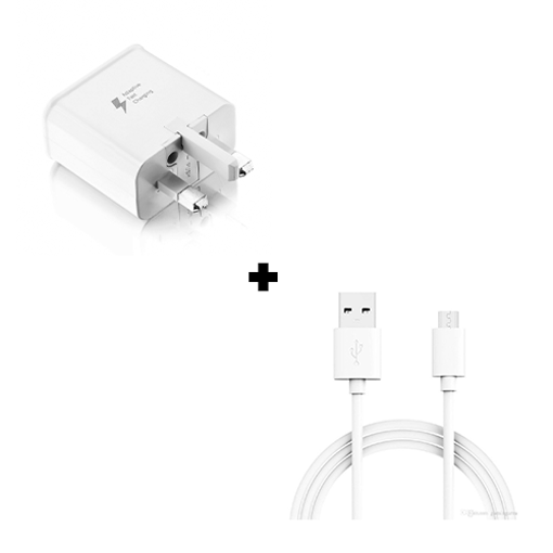 Picture of Genuine Samsung Galaxy Note 10, 10+, Lite Fast Charger Adapter & USB-C Cable