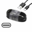 Picture of Genuine Samsung Galaxy S9 S8 A20 A21 A30 A31 Note 8 9 Standard USB A port Fast Charger Plug & 1M Long USB-C Cable lead - Black