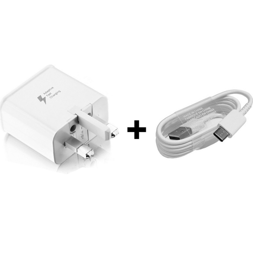 Picture of Genuine Samsung Galaxy S10 | S10+ Fast Charger Adapter With USB-C Cable UK