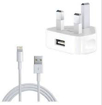 Picture of USB Lightning Data Sync Cable Lead & Adapter For Apple iPhone 5 6 7 8