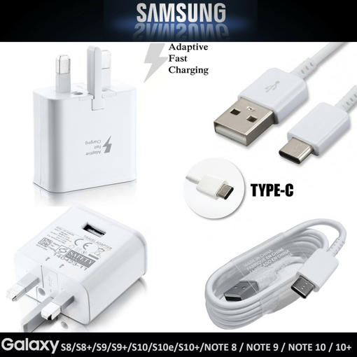 Picture of Genuine Samsung Fast Charger Adapter &3M USB-C Cable For Galaxy A20 A20e A30 A40