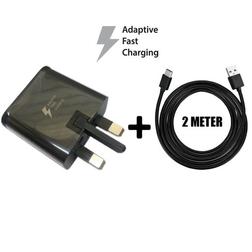 Picture of Original Samsung Galaxy  Charger Adapter & 2m Type-C Charging  Cable For S9, S9+ - Black