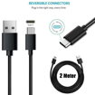 Picture of Original Samsung Galaxy  Charger Adapter & 2m Type-C Charging  Cable For S8 | S8 Plus - Black
