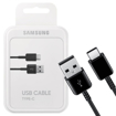 Picture of Genuine Samsung 1M Long USB-C Data Sync Lead Charger Cable For Galaxy S9 S9 Plus A80 A70 - Black