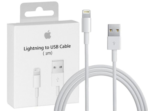 Picture of Apple iPhone Lightning To USB Charger Lead Cable (1 meter) for iPhone XR X 8 7 6 and iPad