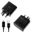 Picture of Genuine Samsung Galaxy Note 5 4 3 Fast Charger Plug With 1m Micro-USB Cable - Black