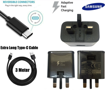 Picture of Genuine Samsung Fast Charger Adapter & 3M USB-C Cable For Galaxy A20 A20e A30 A40 - Black