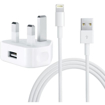 Picture of Genuine Apple CE Approved  Charger Plug & USB Data Cable for Apple iPhone 5 5C 6 6s 7 7Plus 8 8Plus and all Apple iPhones.