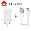 Picture of Genuine Huawei Super Fast Charging Plug and type C Cable for P30 Lite & P 30.