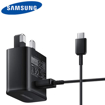 Picture of Genuine Samsung Fast Charger Adapter & 3M USB-C Cable For Galaxy S10 S20  Black