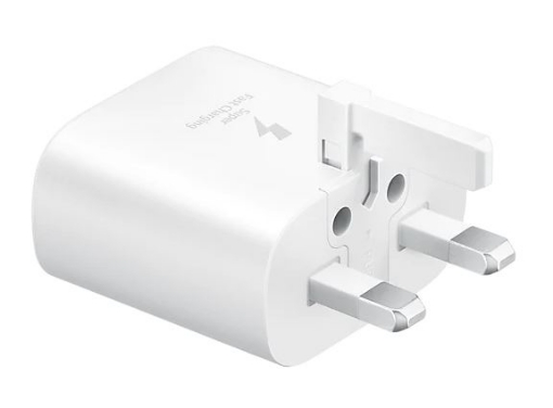 Picture of Samsung Original Fast Charging (25W) USB-C UK Plug/Wall Charger, Genuine Charger for Samsung Galaxy S10 | S10+ | S10e LTE and Other USB Type C Devices – White