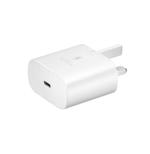 Picture of Samsung Original Fast Charging (25W) USB-C UK Plug/Wall Charger, Genuine Charger for Samsung Galaxy Note 20, Note 10, Note 9, Note 8 and Other Galaxy Smartphones – White