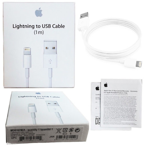 Picture of Genuine Apple Lightning USB Fast Charger Lead Cable For iPhone 12, 12 Pro, 12 Mini